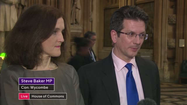 Theresa May's premiership on the brink as cabinet turn on her ENGLAND London Westminster House of Commons lobby Chipping Barnet and Steve Baker MP...