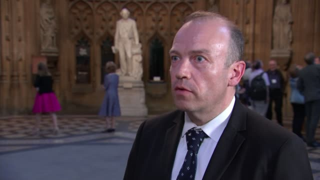 Theresa May's premiership on the brink as cabinet turn on her ENGLAND London Westminster House of Commons Lobby INT Chris HeatonHarris MP interview...