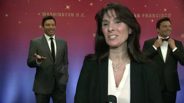 interview therese alvich says one of the figures will be at the dc madame tussauds on the process of making the figures on meeting jimmy fallon at... - jimmy fallon stock videos and b-roll footage