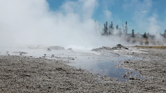 thermal pool in yellowstone national park - thermal pool stock videos & royalty-free footage