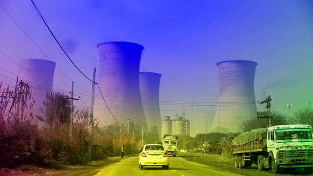 thermal power station - smoke stack stock videos & royalty-free footage