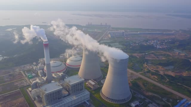 thermal power station - nuclear power station stock videos & royalty-free footage