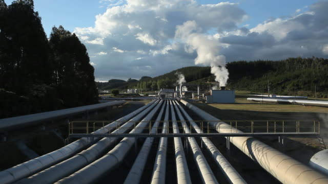 thermal power station - whakarewarewa stock videos and b-roll footage