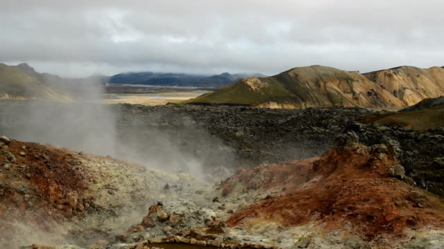 Thermal spring in Landmannalaugar Iceland