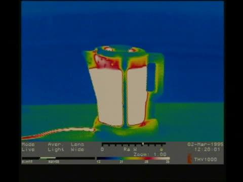 thermographic image, mcu hand checks oil on dipstick in car engine - 科学写真技術点の映像素材/bロール