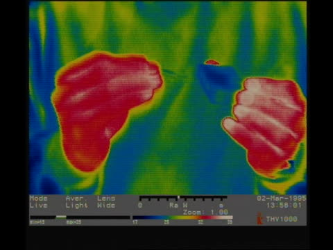 thermographic imaging, cu hands striking a match - thermal imaging stock videos & royalty-free footage