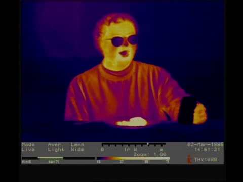 Thermographic imaging, MCU man drinking and eating
