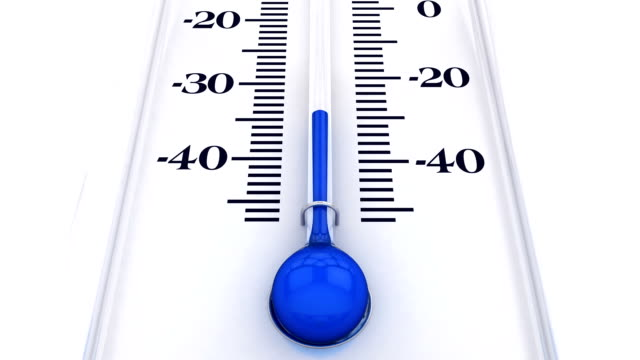 thermometer with rising temperature - cold temperature stock videos & royalty-free footage