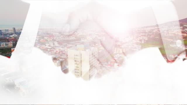 これらの取引は、この都市の運命を変えることができます - film composite点の映像素材/bロール