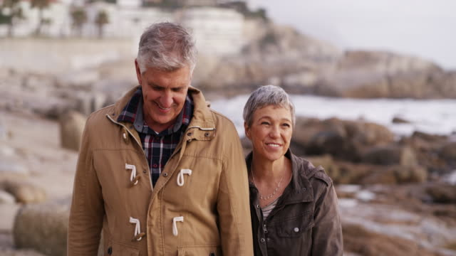 these little walks are always much needed - senior couple stock videos & royalty-free footage