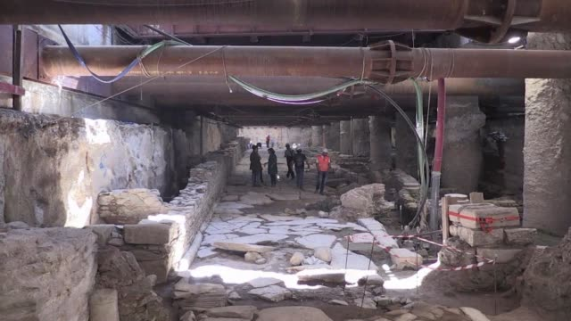 vídeos y material grabado en eventos de stock de thessaloniki metro works unearth significant archaeological findings dating from the roman and byzantine period - bizantino
