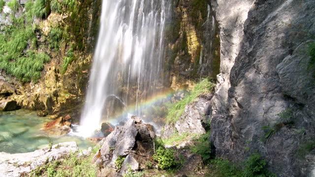 theti waterfall - albania stock videos & royalty-free footage