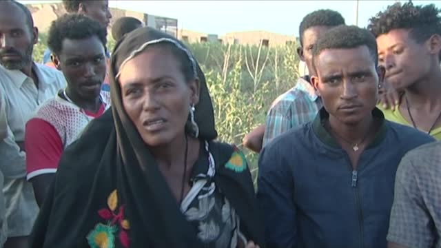 """they are abusing us,"" say ethiopian refugees in village number 8 in sudan's gedaref state as thousands of them stream into sudan fleeing intense... - number 8 stock videos & royalty-free footage"