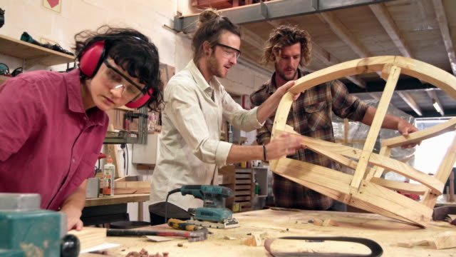 they design furniture as a team - carpenter stock videos & royalty-free footage