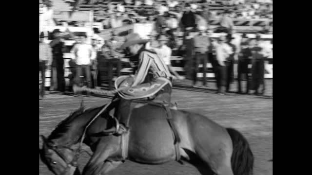 they get knocked down, but they get up again! - rodeo stock videos & royalty-free footage