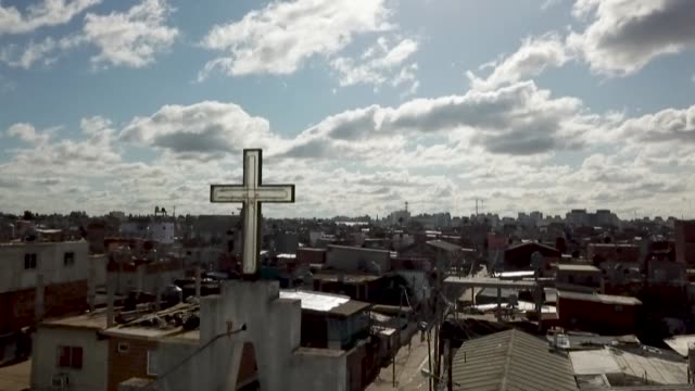 they help people in pain, solve emergencies, listen to complaints, collect donations, organise aid -- these local argentine priests are saviours to... - priest stock videos & royalty-free footage