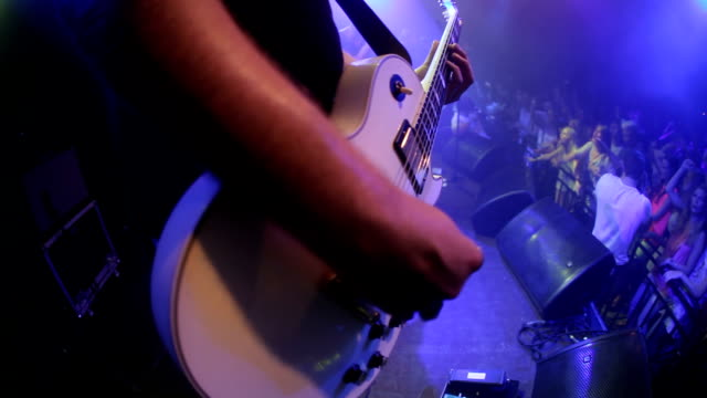 they make the crowd come alive - guitarist stock videos & royalty-free footage