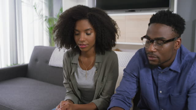 they're both in disagreement - black couple arguing stock videos & royalty-free footage
