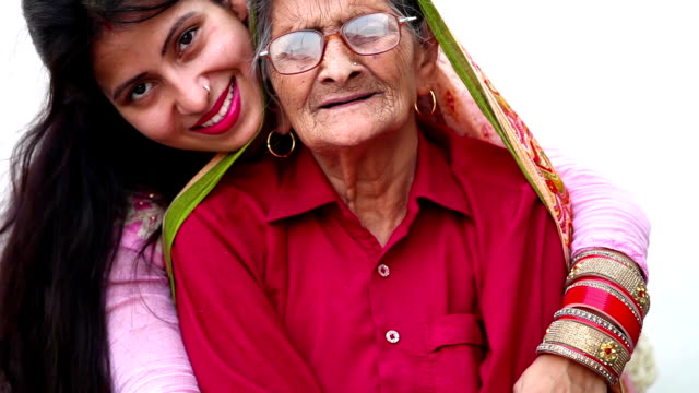 they're grandmother and daughter best friends - indian ethnicity stock videos & royalty-free footage