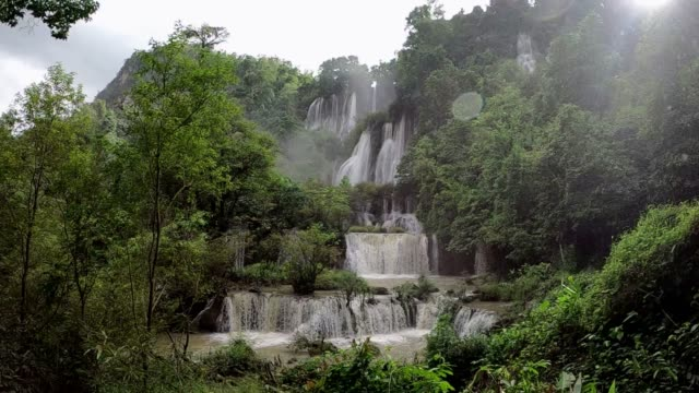 thi lo su waterfall, umphang thailand - named wilderness area stock videos & royalty-free footage