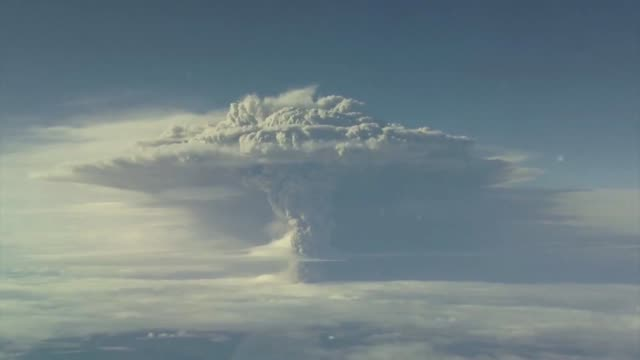thick plume of ash from the erupting puyehue volcano in the andes shifted direction into chile on sunday after spewing volcanic dust over parts of... - mountain range stock videos & royalty-free footage