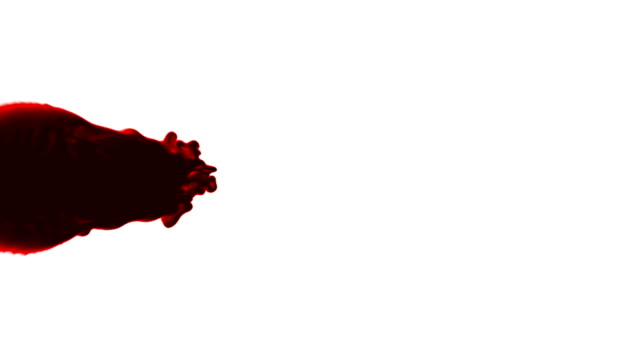 thick red blood flows against a white background. - blood stock videos & royalty-free footage
