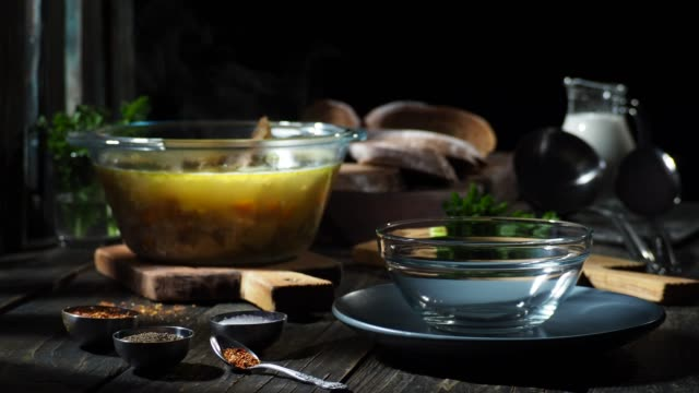 thick soup with cauliflower - broth stock videos & royalty-free footage