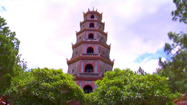 ws la thien hau pagoda, hue, vietnam - temple building stock videos & royalty-free footage