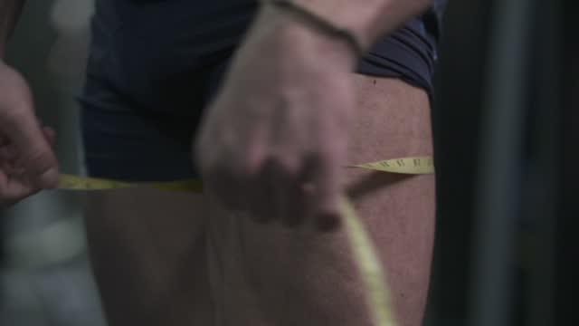 thighs measurement - human limb stock videos & royalty-free footage