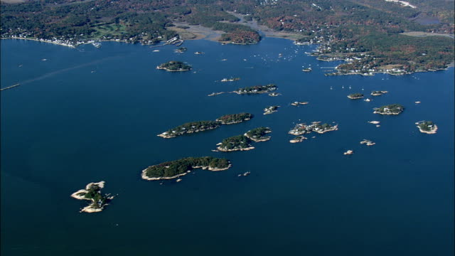 thimble Islands From High Up  - Aerial View - Connecticut,  New Haven County,  United States