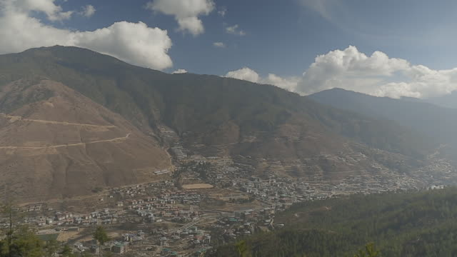thimphu, capital of bhutan - bhutan stock videos & royalty-free footage