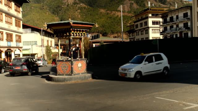 thimphu is the world's only capital without traffic lights - thimphu stock videos & royalty-free footage