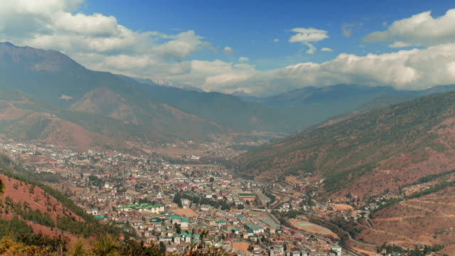 thimphu, the capital of bhutan - bhutan stock videos & royalty-free footage