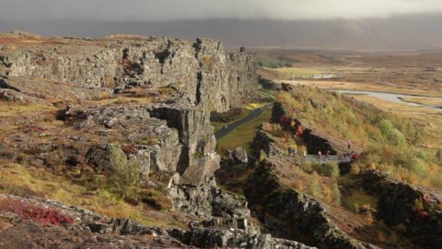 Thingvellir National Park Iceland fall colors fault line tourist visit