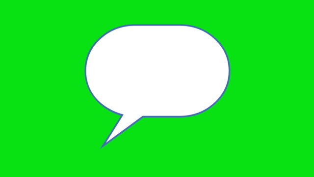 think bubble green box - speech bubble stock videos & royalty-free footage