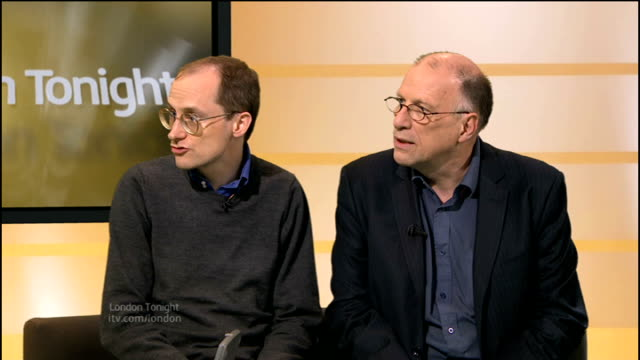 think tank suggests fourrunway airport at heathrow england london gir int tim leunig and john stewart studio interview sot - 2012 stock videos and b-roll footage