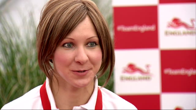 third day of competition scotland glasgow ext joanna rowsell interview sot cutaway close up shot gold medal for women's 3000m individual pursuit win - pursuit sports competition format stock videos and b-roll footage