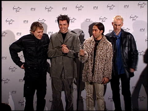 third eye blind at the 1999 american music awards press room at the shrine auditorium in los angeles california on january 11 1999 - american music awards stock videos & royalty-free footage