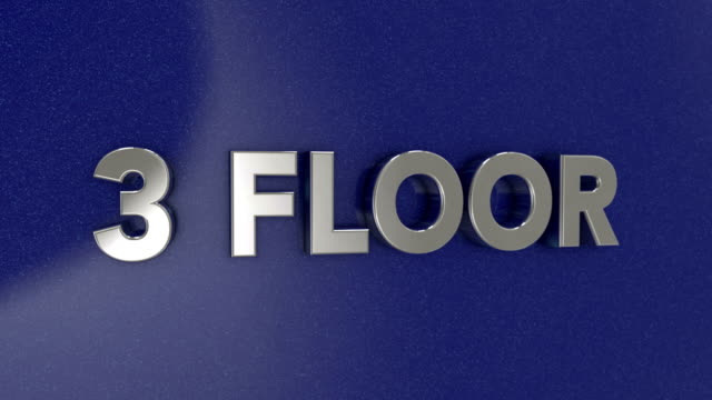 third floor 3d sign - elevator point of view stock videos and b-roll footage