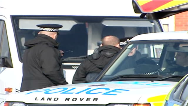 third letter bomb sent to vehicle licensing headquarters in swansea wales swansea driver and vehicle licensing agency ext police car along past... - domestic staff stock videos and b-roll footage