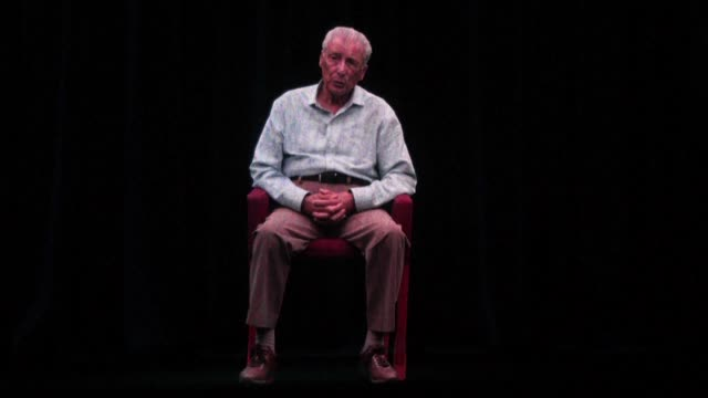 thirteen holocaust survivors most living in the united states but also from canada israel and britain are beamed in the form of an interactive and... - holographic stock videos & royalty-free footage