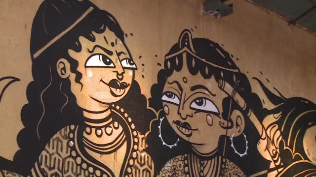 Thirty artists from around the world have given the bustling 142 year old Sassoon Dock home to Mumbai's traditional Koli fishing community a...