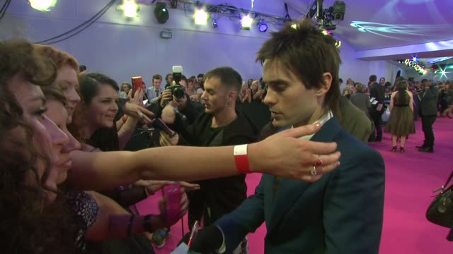 Thirty Seconds to Mars Jared Leto MTV Europe Music Awards 2011 Arrivals at Odyssey on November 06 2011 in Belfast Northern Ireland