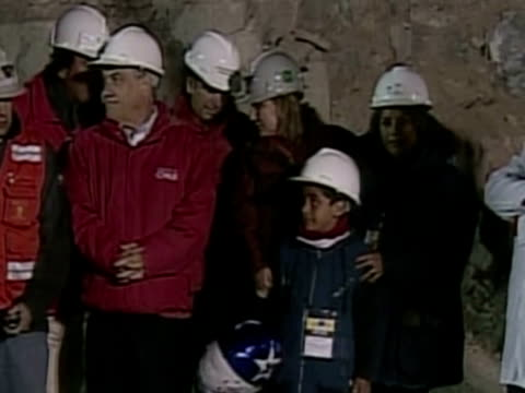 thirtyoneyearold florencio avalos stepped out of a rescue capsule and into history late tuesday as the first miner to resurface after 68 days spent... - miner stock videos & royalty-free footage
