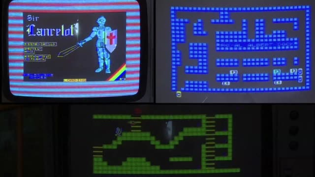 thirtythree years since it first had gamers hooked the zx spectrum console has been brought back to life and rebranded as the zx vega as part of an... - spectrum stock videos & royalty-free footage