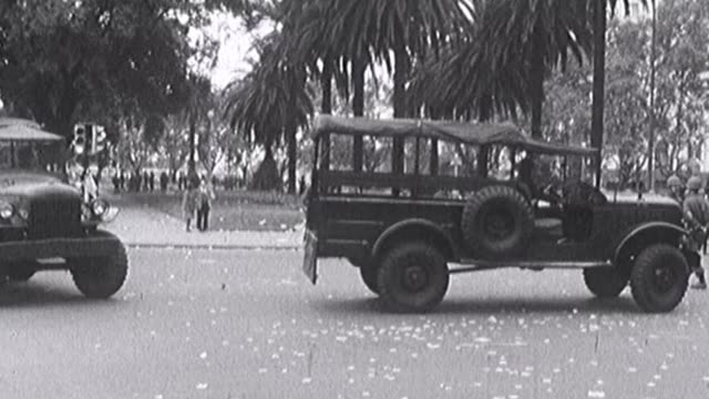 this 16mm images were taken in front of the presidential palace of buenos aires the the day in which hector j. cámpora became president of argentina,... - coup d'état stock videos & royalty-free footage