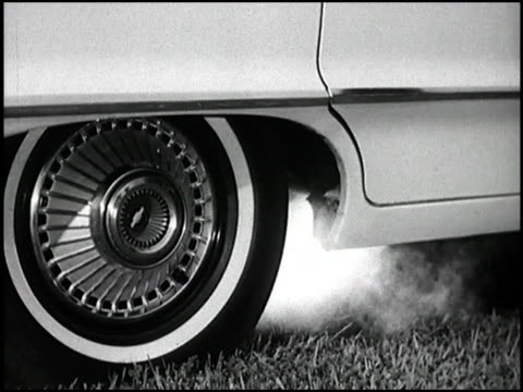 this 1963 segment compares air circulation inside the chevy impala and the ford galaxie then there's a test to measure how quiet the cabins are by... - marble stock videos & royalty-free footage