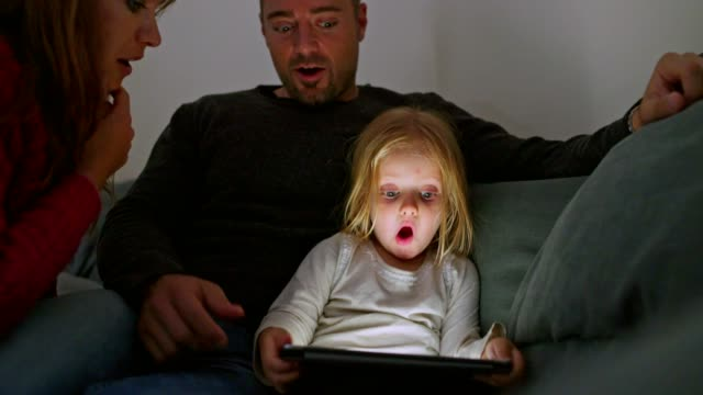 this amazed me! - family with one child stock videos & royalty-free footage