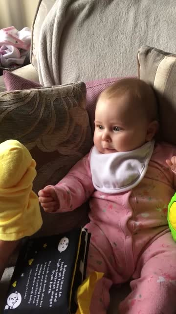 this baby giggling at a duck hand puppet is the cutest thing you'll see today. that laughter is so contagious! - puppet stock videos & royalty-free footage
