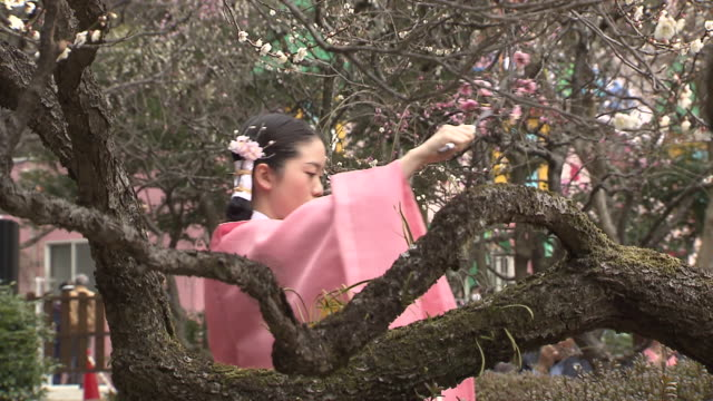 This ceremony is held in Dazaifu Shrine Dazaifu Fukuoka Japan KyokusuinoEn is a reappearance of one of the festivals that took place in the imperial...